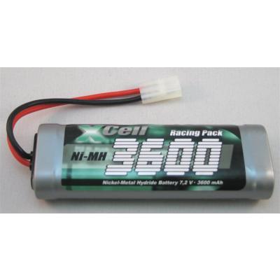 Xcell Akku-Pack 7,2V/3600mAh NiMH Tamiya-Stecker für RC-Modelle