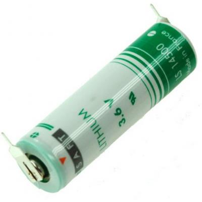 SAFT Lithium Batterie LS14500 2PF - AA-3,6V m. Printlötfahnen 1/1 pin +/-