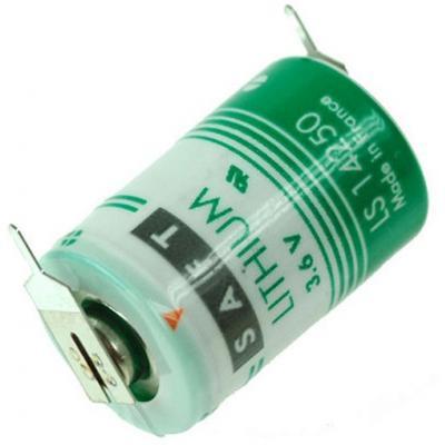 SAFT Lithium Batterie LS14250-1/2AA-3,6V m. Printlötfahnen