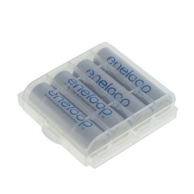 Panasonic eneloop Akku AA - 1900mAh - 4 Stück + Schutzbox (BK-3MCCE/BF1)