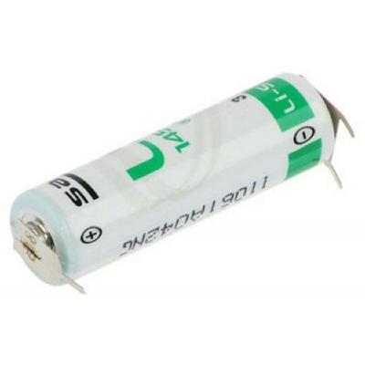 SAFT Lithium Batterie LS14500 3PF - AA-3,6V m. Printlötfahnen 1/2 pin +/--