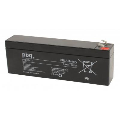 pbq 2.6-12 Bleiakku 12V/2,6Ah/4,8mm