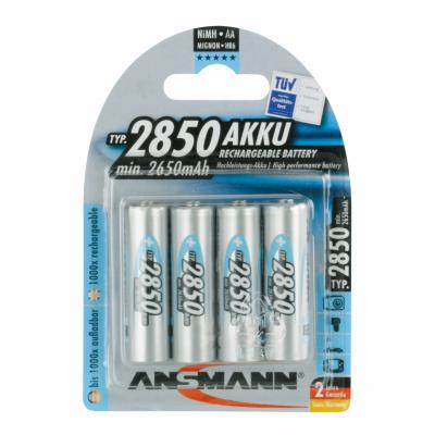 4 x Ansmann Power-Akku Mignon NiMH Digital 2850 mAh