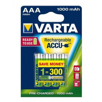 4 x VARTA Ready2Use 5703 Akku Micro AAA 1000 mAh
