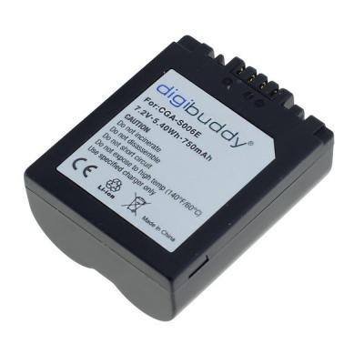 digibuddy Akku kompatibel zu Panasonic CGR-S006 Li-Ion