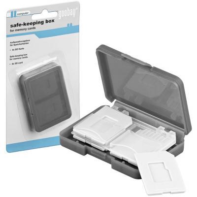 Aufbewahrungsbox für Speicherkarten 4x SD Karten