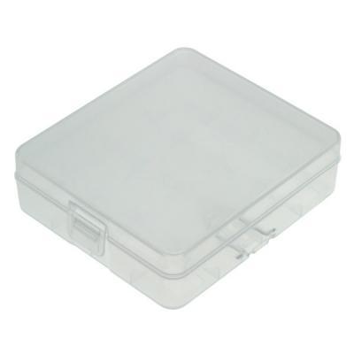 Transportbox für 4 18650 Akkus/Batterien (für Zellen ohne PCB)
