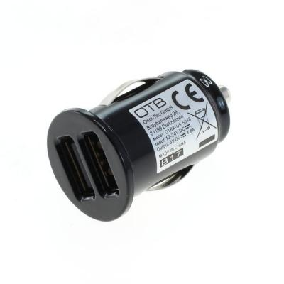 OTB KFZ-Ladeadapter USB - Dual USB - 4,8A mit Auto-ID - schwarz - TINY