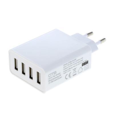 OTB Ladeadapter USB - 5,0A 4-Port Multiadapter mit Auto-ID - weiß