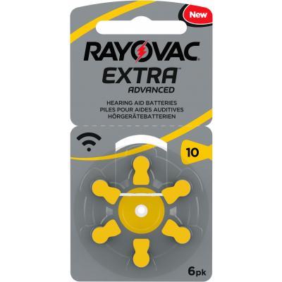 RAYOVAC 6 Hörgerätebatterien Typ 10 Zink Air Extra Advanced 105 mAh
