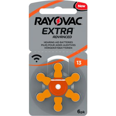 RAYOVAC 6 Hörgerätebatterien Typ 13 Zink Air Extra Advanced 310 mAh