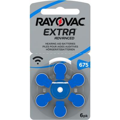 RAYOVAC 6 Hörgerätebatterien Typ 675 Zink Air Extra Advanced 640 mAh