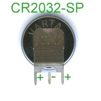 Varta Lithium-Knopfzelle CR2032 mit 3 Lötpins