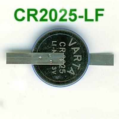 Varta Lithium-Knopfzelle CR2025 mit Z-Lötfahnen