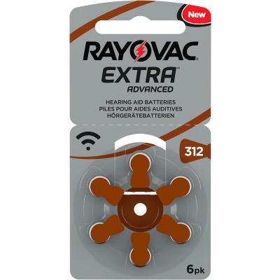 RAYOVAC 6 Hörgerätebatterien Typ 312 Zink Air Extra Advanced 180 mAh