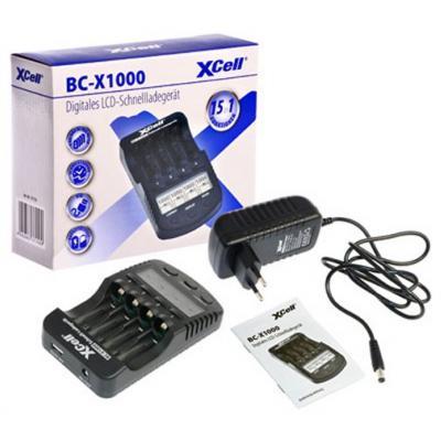XCell Schnellladegerät BC-X1000 mit LCD-Display