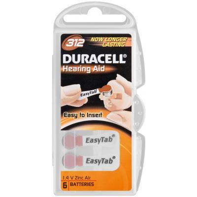 Duracell Hörgerätebatterie easytab 312 - 6er Blister