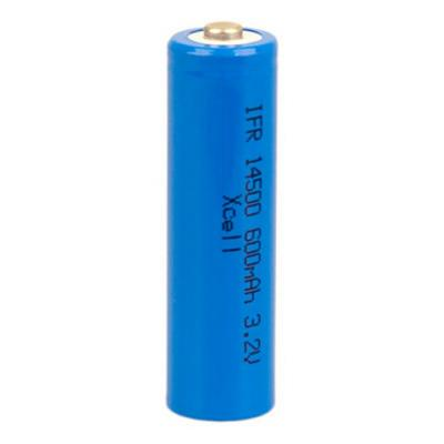LiFePo4 Mignon (AA) Akku IFR14500, 600 mAh, 3,2 Volt, ungeschützt