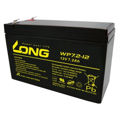 Kung Long VdS-Blei-AGM-Akku WP7.2-12, 12V, 7,2 Ah (6,3mm)
