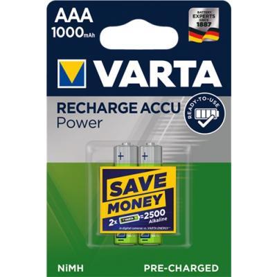 2 x VARTA Recharge Accu Power 5703 Akku Micro AAA 1000 mAh