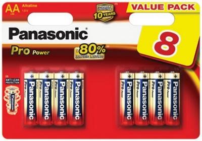 8x Panasonic Pro Power - Alkali LR6 Mignon