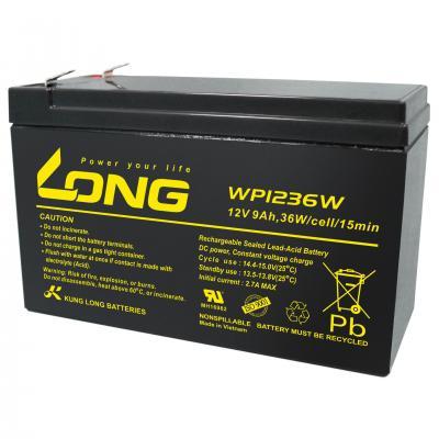 Kung Long Blei-AGM-Akku WP1236W, 12V, 36 W, 9Ah (6,3mm)