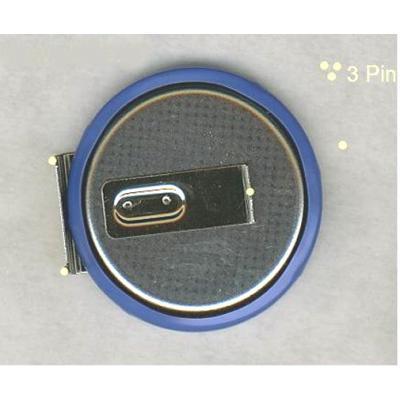 Lithium-Knopfzelle ML2430-HS1 Pin2/1 +/- liegend, aufladbar