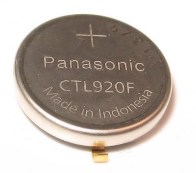 Panasonic Akku CTL 920 F / 295-69 mit Fähnchen für Solar Uhren