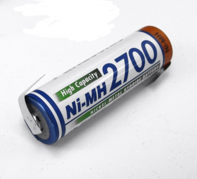 Panasonic High Capacity Akku AA NiMH 1,2V / 2700mAh mit Lötfahnen Z-Form