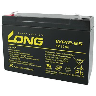 Kung Long Blei-AGM-Akku WP12-6S, 6V, 12 Ah (Faston 187 - 4,8mm)