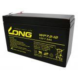 Kung Long VdS-Blei-AGM-Akku WP7.2-12, 12V, 7,2 Ah (6,3mm)
