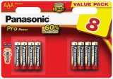 8x Panasonic Pro Power - Alkali LR03 Micro