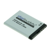 digibuddy Akku kompatibel zu Nokia BL-4B Li-Ion