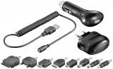 Handy Lade-Kit 3in1 für USB, 12V und 230V