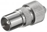 Koaxial Stecker 9,5 mm, Metall, mit Schraubanschluss