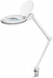LED Lupenleuchte mit Klemmhalterung125 mm Echtglaslinse mit 3 Dioptrien