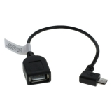 OTB Adapterkabel Micro-USB OTG (USB On-The-Go) für Smartphones, Tablets und Camcorder abgewinkelt
