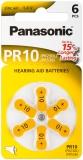 Panasonic Hörgerätebatterie Zincair PR10 - 6er Blister