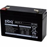 pbq 3.5-4 Bleiakku 4V/3,5Ah/4,8mm
